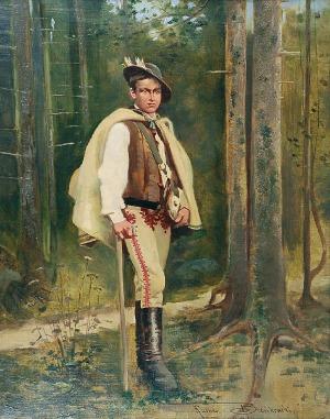Kazimierz BIEŃKOWSKI (1838-1918), Młody góral, 1894