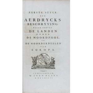 Joan Blaeu, Eerste stuck der aerdrycks beschryving, welck vervat