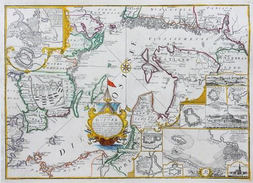 Christoph Riegel, Accurate Geographische Vorstellung der Ost-See mit denen an der See herum…
