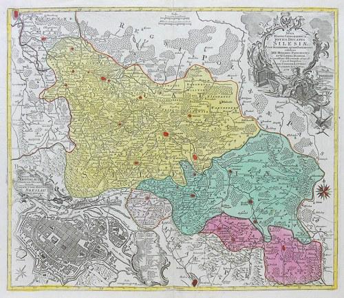 Tobias Conrad Lotter, Nova Mappa Geographica Totius Ducatus Silesiae…