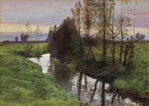 Wywiórski Michał Gorstkin, PEJZAŻ Z BRZOSTKOWA, 1907
