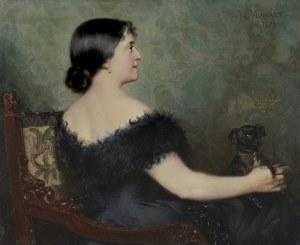 Merwart Paweł, DAMA Z PIESKIEM, 1894