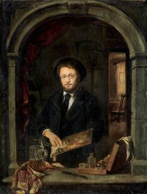 Merwart Paweł, AUTOPORTRET MALARZA, OK. 1880-1885