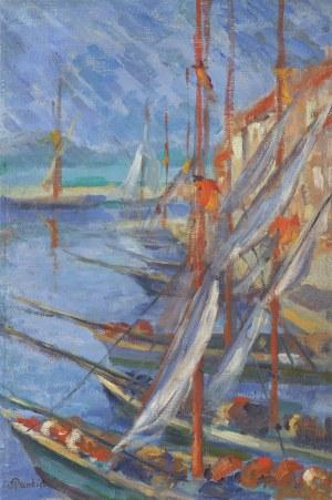 Pankiewicz Józef, WIDOK PORTU W SAINT-TROPEZ, 1909