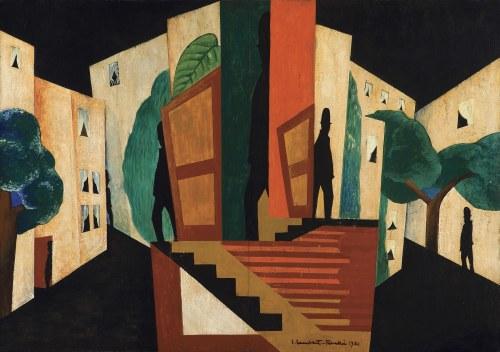 Lambert-Rucki Jean, PERSONNAGES DANS LA VILLE, 1921