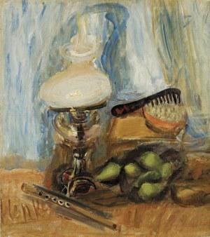 Menkes Zygmunt, MARTWA NATURA Z LAMPĄ NAFTOWĄ, 1928