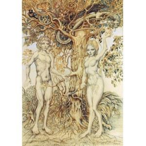 Jan LEBENSTEIN (1930-1999), Adam i Ewa - Adam et Eve, 1988