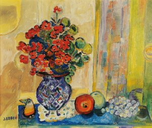 Judyta SOBEL (1924-2012), Martwa natura z jabłkami