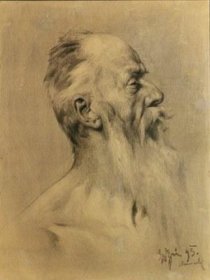 Michał GORSTKIN WYWIÓRSKI (1861-1926) ?, Głowa starego mężczyzny, 1893
