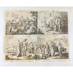 Daniel CHODOWIECKI (1726-1801), Album z rycinami - 16 plansz o różnej tematyce