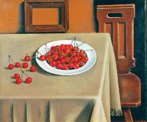 Henryk BERLEWI (1894-1967), Martwa natura z wiśniami, 1948