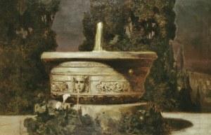 Wilhelm KOTARBIŃSKI (1849-1921), Noc księżycowa - Fontanna w ogrodzie