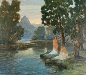 Konstanty MACKIEWICZ (1894-1985), Kąpiące się o zachodzie słońca
