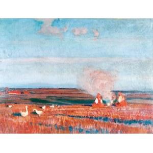 Henryk SZCZYGLIŃSKI (1881-1944), Gęsiarki przy ognisku