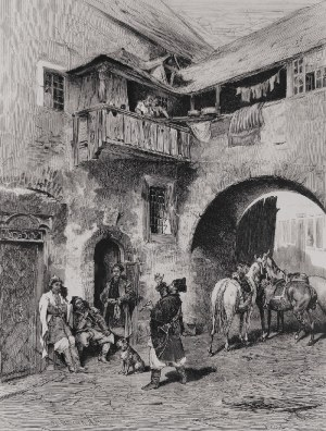 Alfred WIERUSZ-KOWALSKI (1849-1915), Ciekawa nowina, 1876