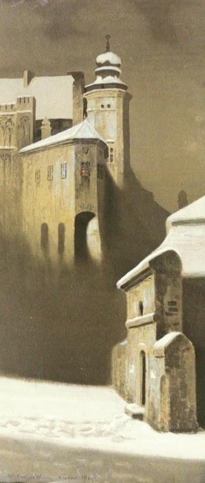 Stanisław Ignacy Poraj FABIJAŃSKI (1865-1947), Kurza stopka zimą, 1916