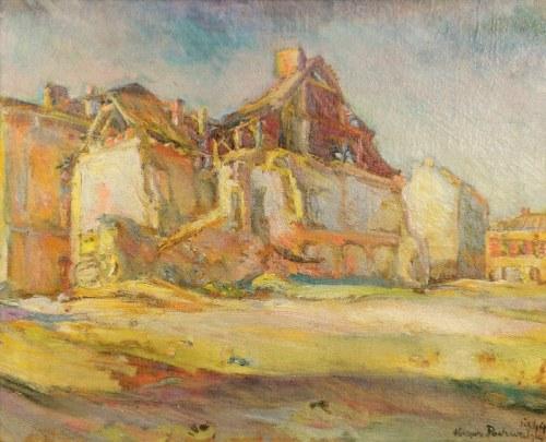 Kasper POCHWALSKI (1899-1971), Widok miasteczka, 1944