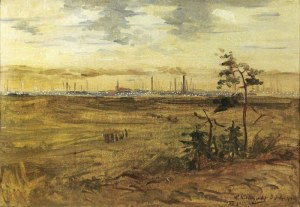 Wincenty WODZINOWSKI (1866-1940), Panorama Śląska, 1923