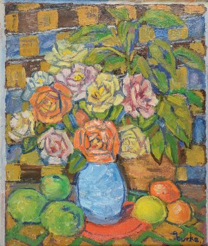 Edmund  BURKE (1912-1999), Róże i owoce, 1987