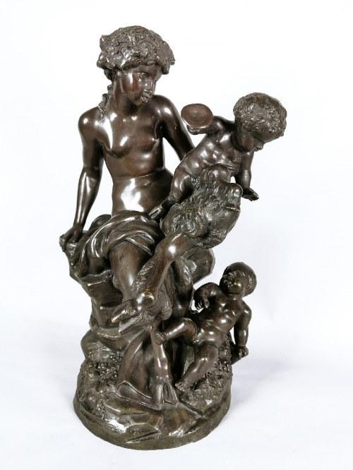 Claude MICHEL - CLODION (1738-1814), Grupa figuralna z faunami