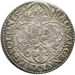 R-, Zygmunt III Waza, Szóstak 1599, Malbork, duża głowa