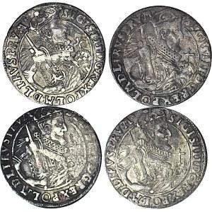 4 szt. zestaw monet, Zygmunt III Waza, Orty 1623, Bydgoszcz