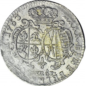 August III Sas, 1/6 talara 1763 FwoF, Drezno