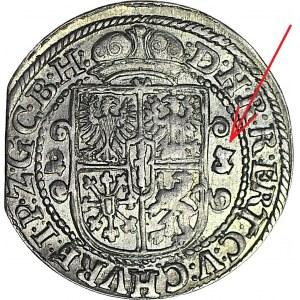 RR-, Lenne Prusy Książęce, Jerzy Wilhelm, Ort 1622/3, Królewiec, PRZEBITKA DATY 22/23