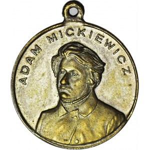 Medal 1898 r., 100-na rocznica urodzin Adama Mickiewicza, mosiądz 23 mm