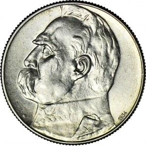5 złotych 1934, Piłsudski, orzeł strzelecki, ok. menniczy