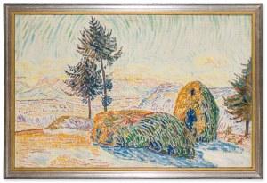 Krcha Emil (1894-1972), Pejzaż z kopami