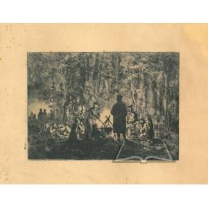ELJASZ - Radzikowski Walery (1841-1905), Powstańcy przy ognisku.