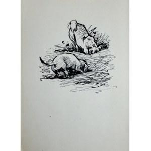 Ludwik Antoni Maciąg (1920-2007), Psy kopiące z ziemi