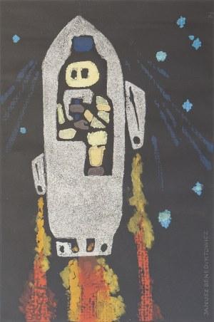 Janusz BENEDYKTOWICZ (1918-2001), Rakieta kosmiczna l. 60. XX w.