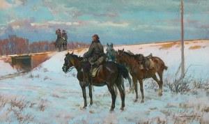 Ignacy Zygmuntowicz (1875 Warszawa-1947 Łódź), Na patrolu