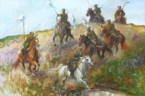 Zenon Aniszewski (ur. 1948 r. Grudziądz), Patrol ułanów, 2019 r.