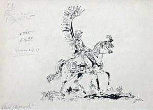 Jan Marcin Szancer (1902 Kraków-1973 Warszawa), Husarz na koniu