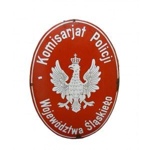 SZYLD Z KOMISARIATU POLICJI WOJEWÓDZTWA ŚLĄSKIEGO, II RP