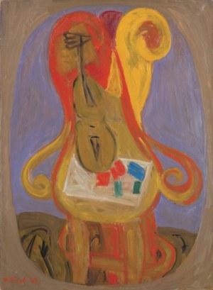 Blond (Blumenkranc) Maurice, KOMPOZYCJA Z KRZESŁEM, 1969