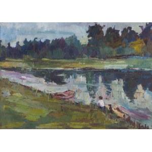 Artymowski Roman, PEJZAŻ Z RZEKĄ, 1958