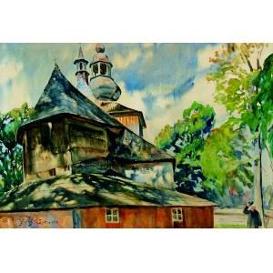 Julian Fałat (1853-1929), Kościół w Mikuszowicach, 1913