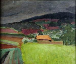 Rafał Malczewski (1892-1965), Pejzaż podgórski, ok. 1920