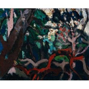 Kazimierz Podsadecki (1904 - 1970), Pejzaż z drzewami, 1969?