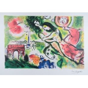 Marc Chagall (1887-1985) - Według, Zakochani nad miastem