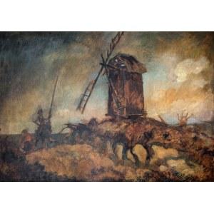 Kazimierz Sichulski (1879 Lwów - 1942 tamże) - Don Kichot