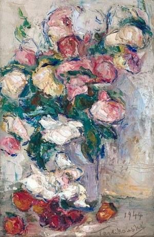 Włodzimierz Terlikowski (1873 wieś pod Warszawą - 1951 Paryż) - Kwiaty w wazonie, 1944 r.