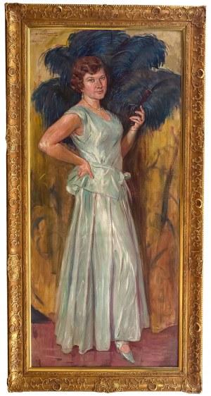 Wincenty Wodzinowski (1866 Igołomnia k. Miechowa - 1940 Kraków) - Portret córki artysty – Krystyny, 1931 r.