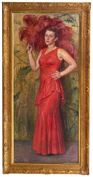 Wincenty Wodzinowski (1866 Igołomnia k. Miechowa - 1940 Kraków) - Portret córki artysty – Wincentyny, 1931 r.