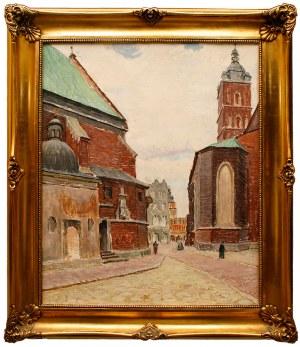 Ignacy Pinkas (1888 Jasło - 1935 Kraków) Kraków - fragment z placu Mariackiego