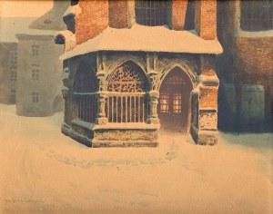 Stanisław Fabijański (1865 Paryż - 1947 Kraków) - Ogrójec przy kościele św. Barbary, 1928 r.
